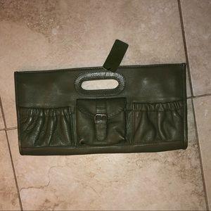 Arden B. Leather Clutch NWT
